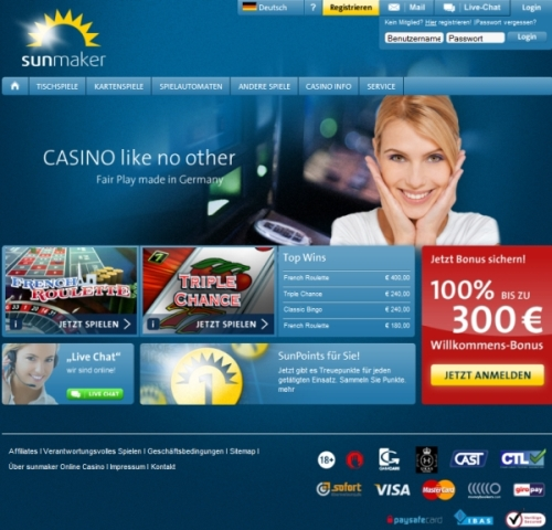 sunmaker online casino deluxe spiele