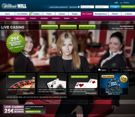 Livecasino William Hill