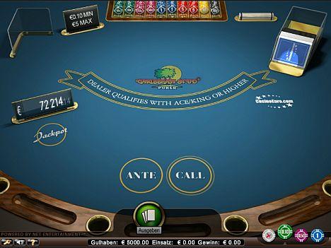 Gratispoker im Casino Euro