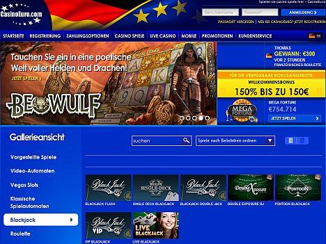 Blackjack kostenlos im Casino Euro